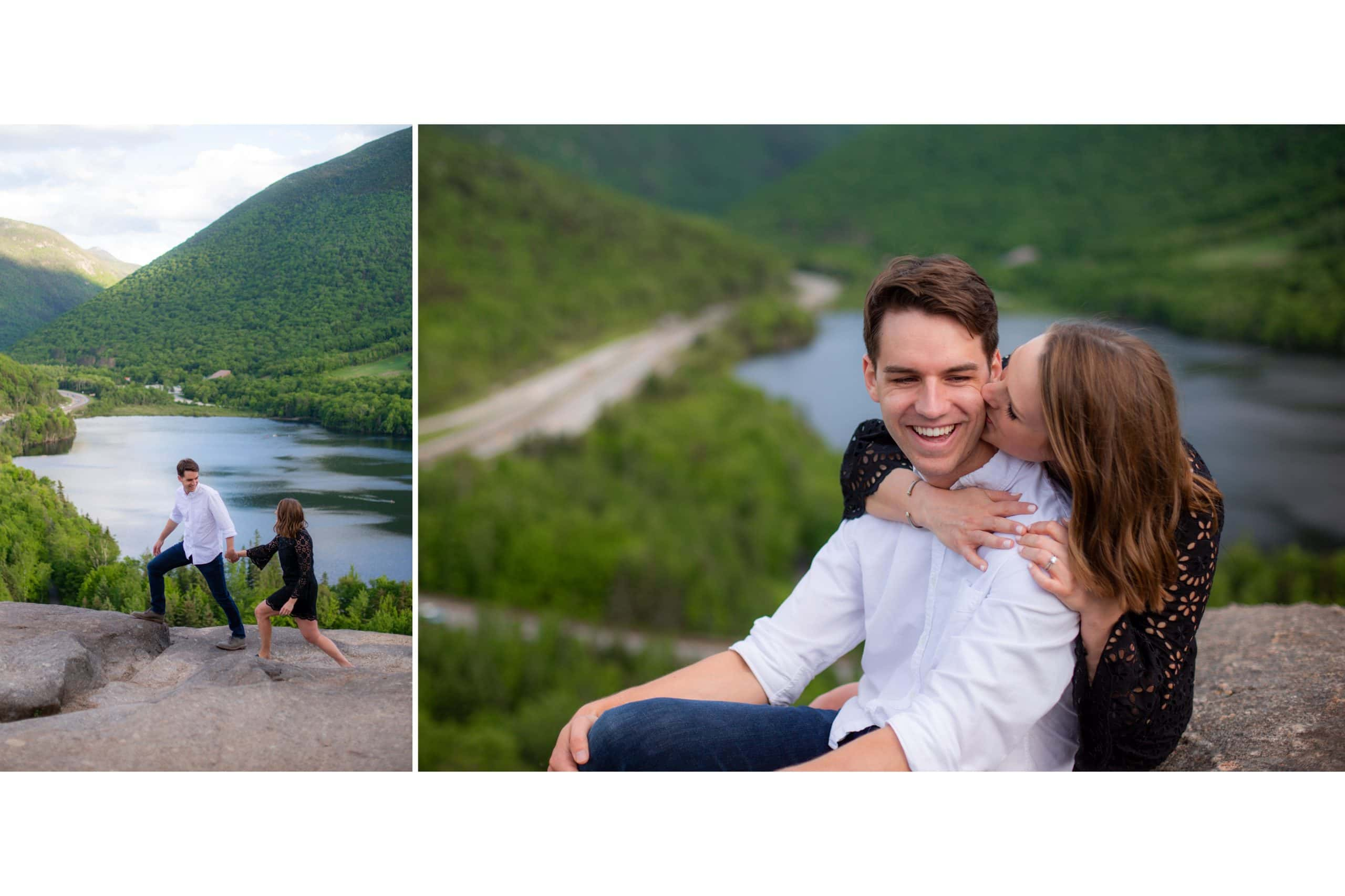 engagement photography couple scenic